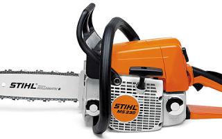 Обзор бензопилы Stihl 230-MS. Технические характеристики, описание, инструкция по эксплуатации и обслуживанию