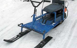 Снегоход из бензопилы. Принципы сборки, схема устройства