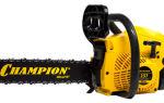 Обзор бензопилы Champion 237. Техника безопасности и особенности работы з бензопилой