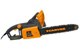 Электрическая цепная пила Carver rse-2200м. Описание и отзывы владельцев