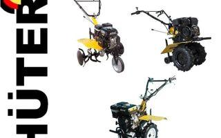 Мотоблоки Huter. Обзор модельного ряда, характеристики, навесное оборудование, применение и эксплуатация