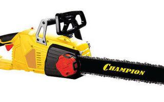 Обзор цепной электрической пилы Champion 324n. Базовая комплектация, характеристики. Особенности первого пуска и эксплуатации