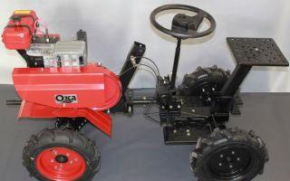 Прицепы и адаптеры к мотоблоку ОКА. Переоборудование ОКА в минитрактор