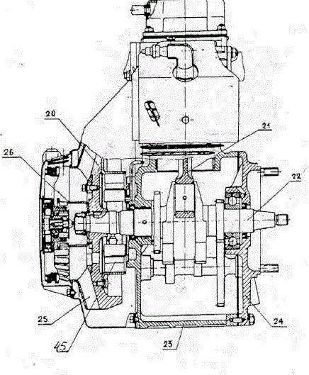 Схема двигателя мотоблока «Агро» - УМЗ-341
