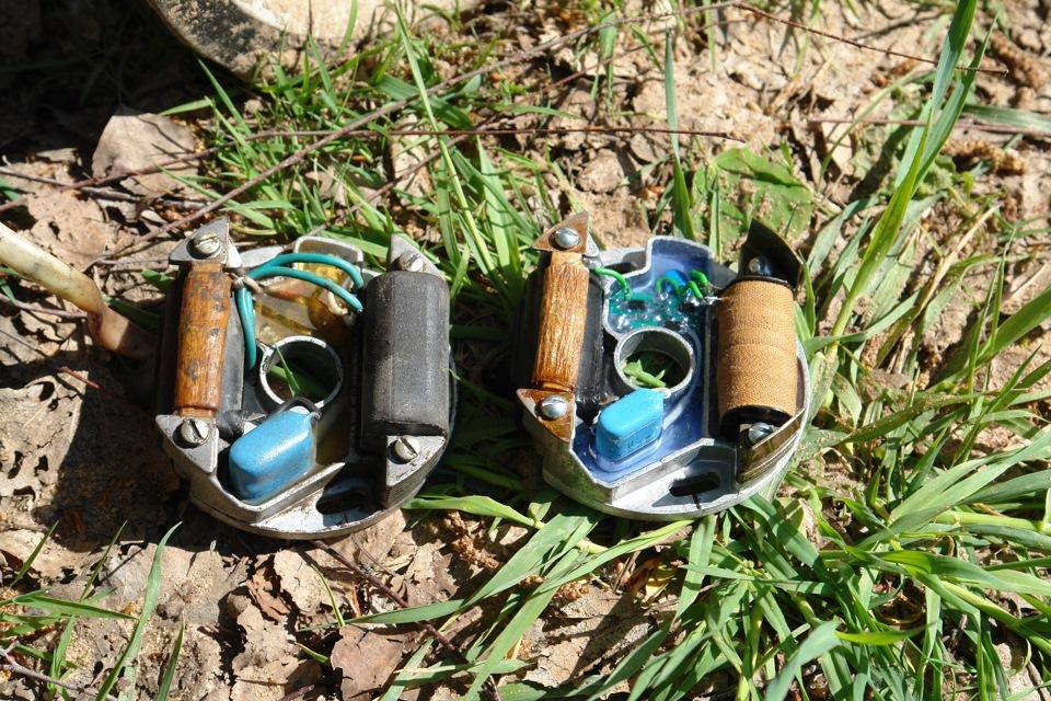 Разница практически не заметна, но в СССР-овском варианте залито эпоксидной смолой, в новом-силиконом, в старом-провода для кнопки в комплекте, в новом-нет