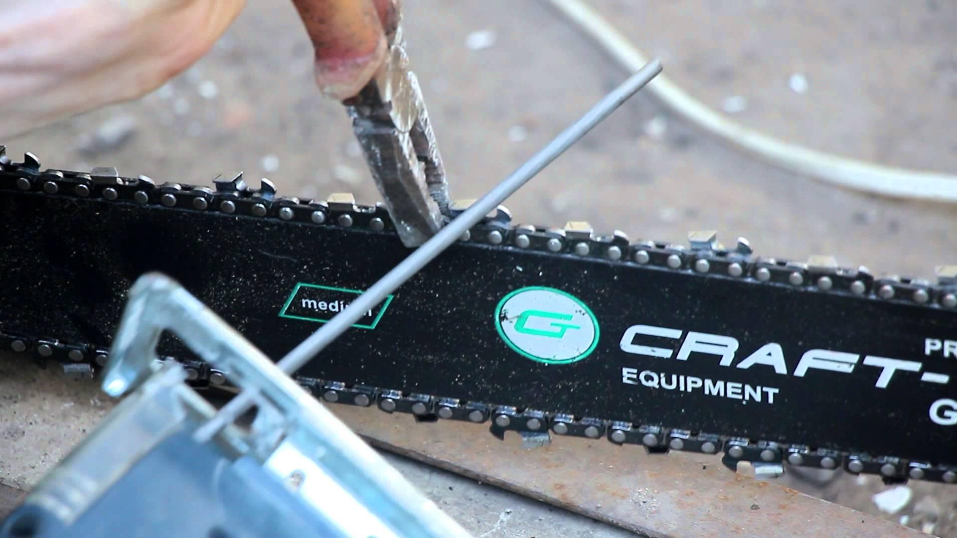 Как заточить цепь электропилы своими руками
